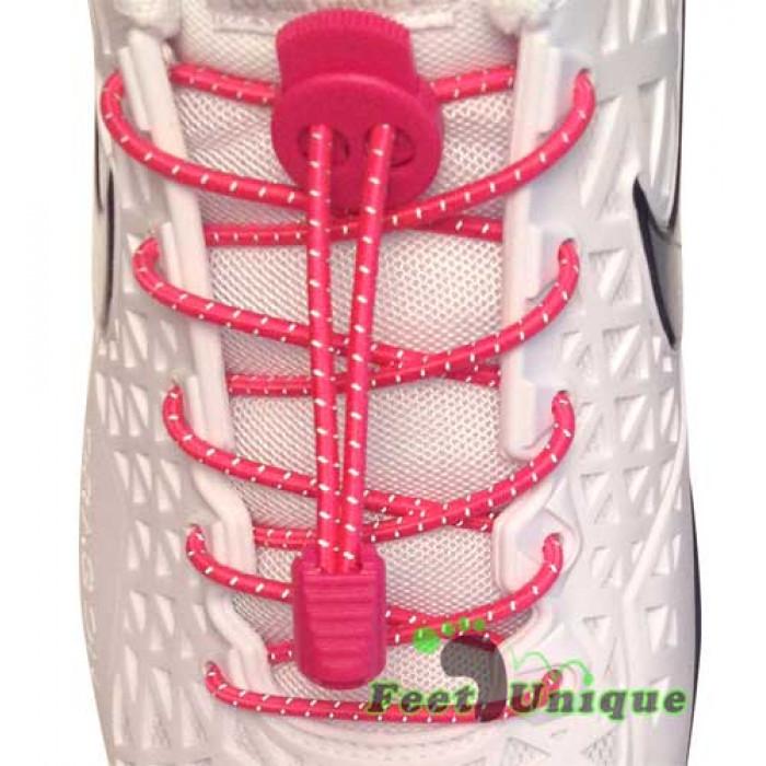 Hot pink refleks snørebånd