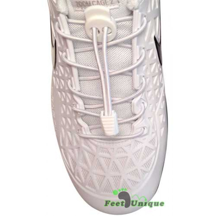 Hvide elastik snørebånd