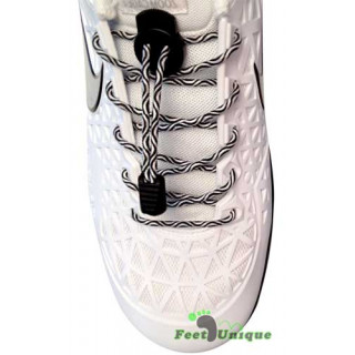 Sort & hvide elastik snørebånd