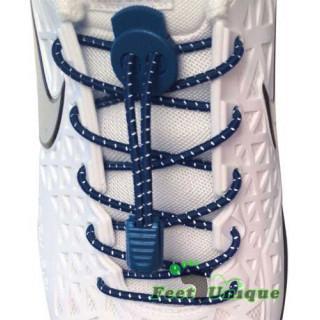 Navy blå refleks snørebånd