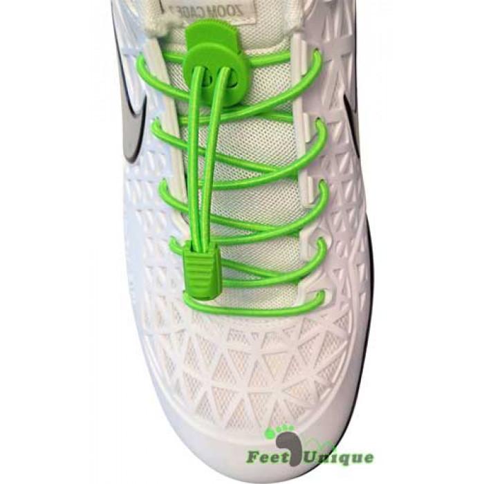 Grønne elastik snørebånd