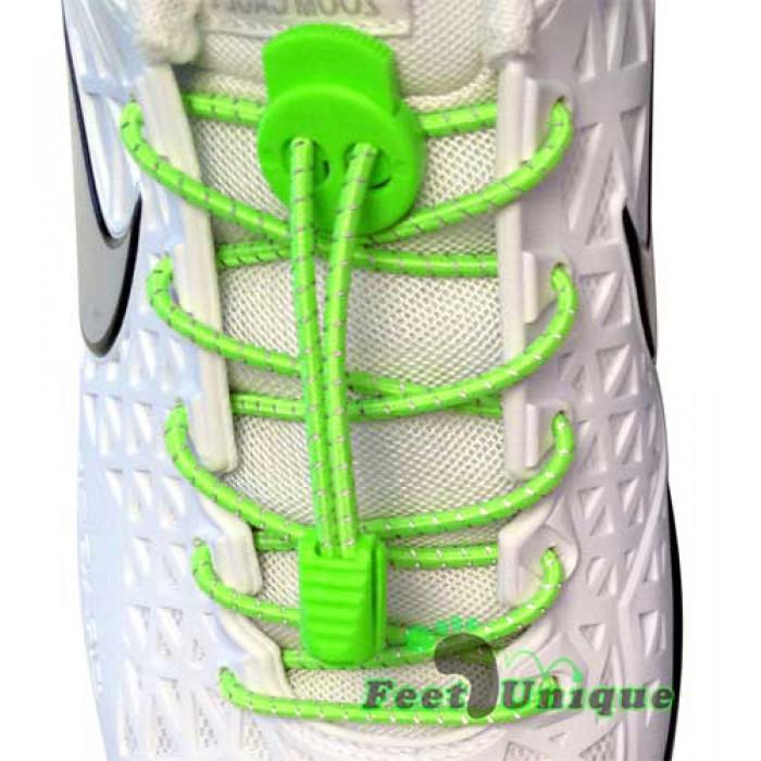 Neon grønne refleks snørebånd
