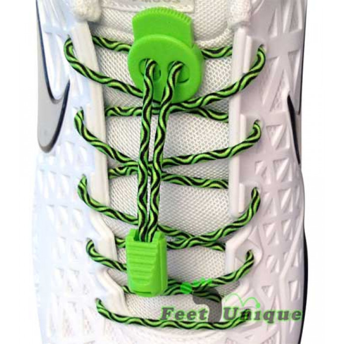 Sort & grønne elastik snørebånd