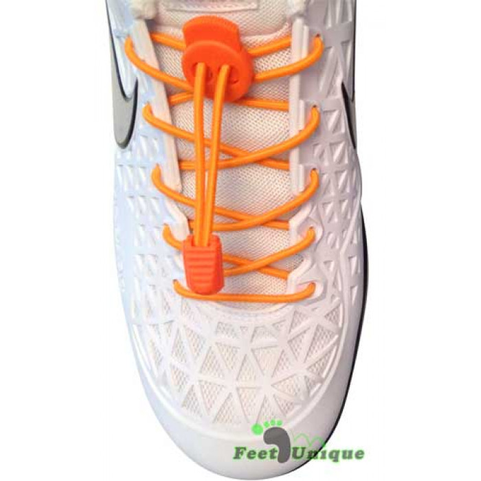 Orange elastik snørebånd