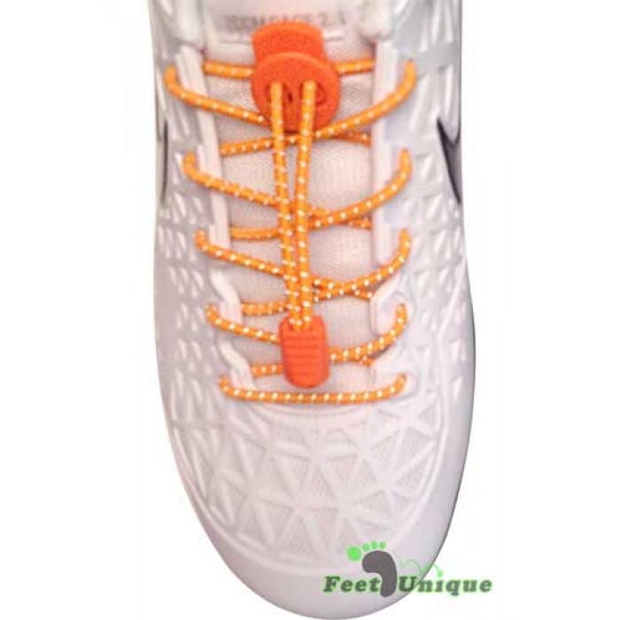 Orange refleks snørebånd
