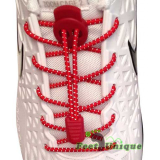 Røde refleks snørebånd