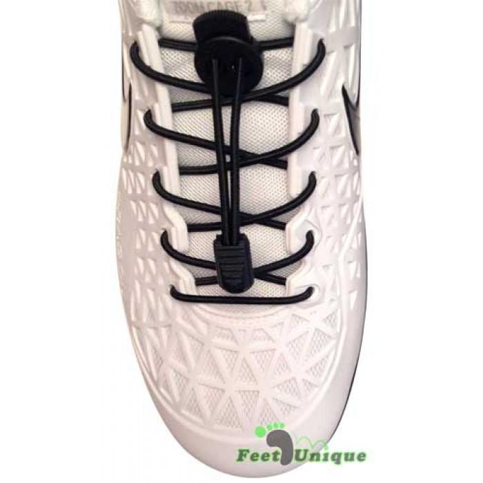 Sorte elastik snørebånd