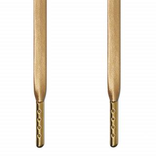 Guld læder snørebånd