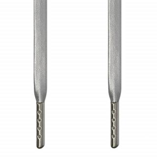 Sølv læder snørebånd