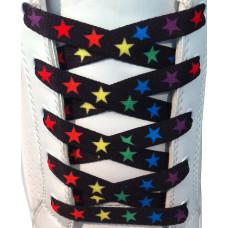 Farverige stjerner snørebånd