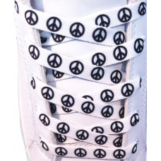 Hvide peace snørebånd