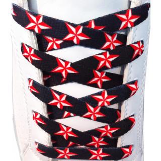 Røde stjerne snørebånd