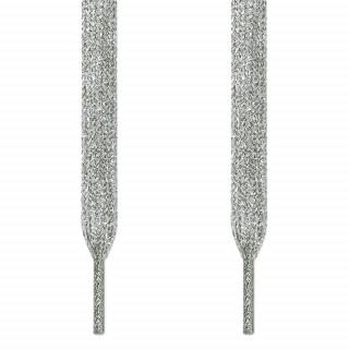 Flade sølv snørebånd