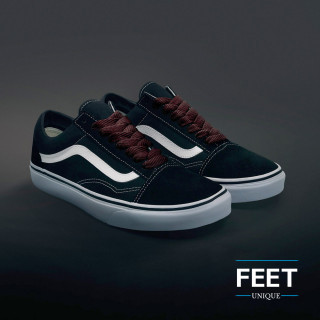 Mørkebrune sneakers snørebånd