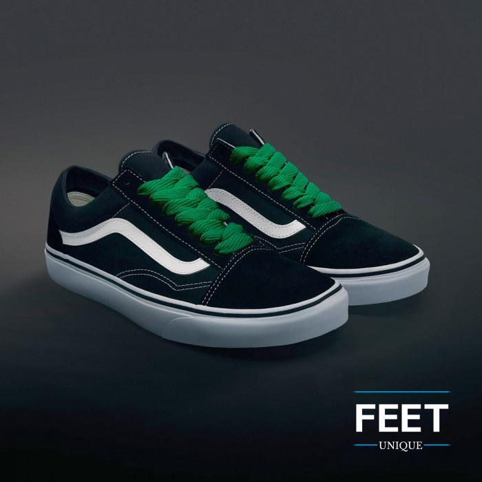 Grønne sneakers snørebånd