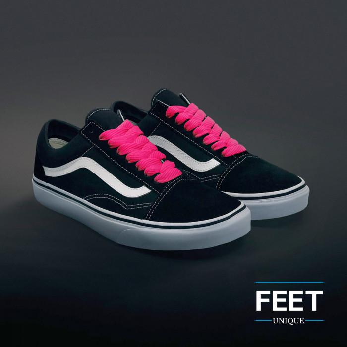 Hot pink sneakers snørebånd