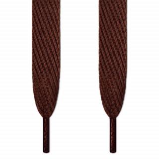 Super brede mørkebrune snørebånd
