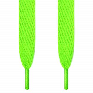 Super brede neon grønne snørebånd
