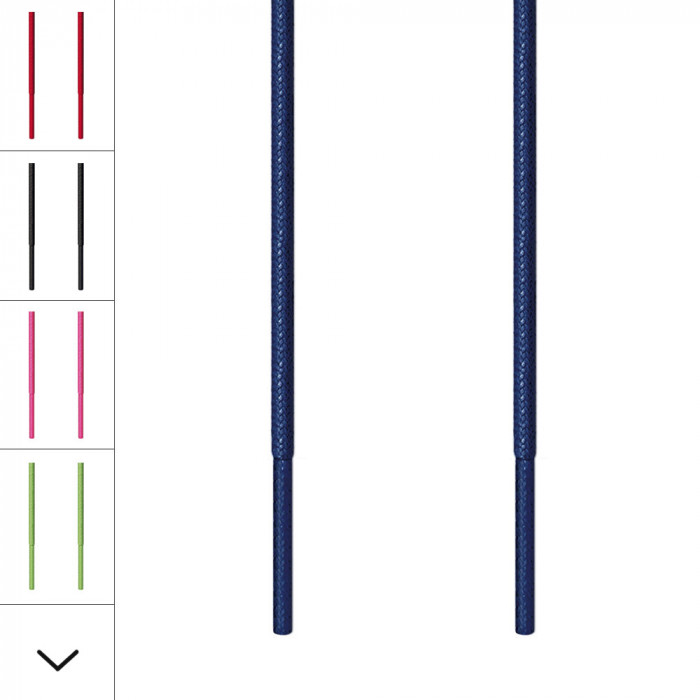 Fine navyblå snørebånd
