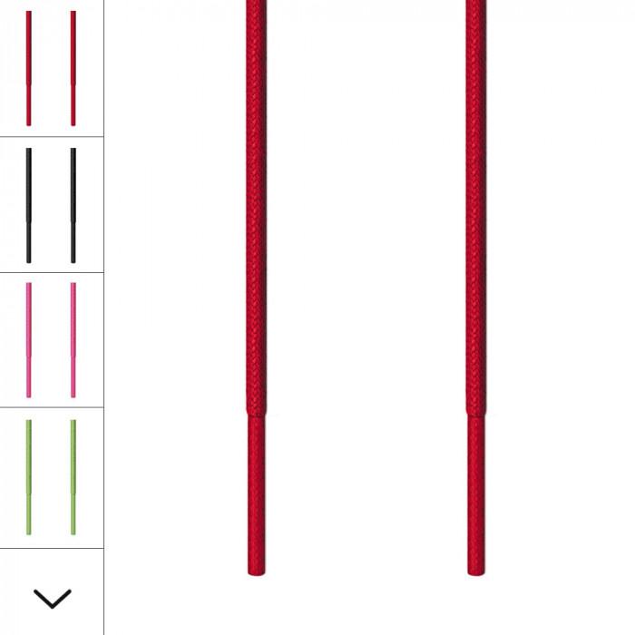 Fine røde snørebånd
