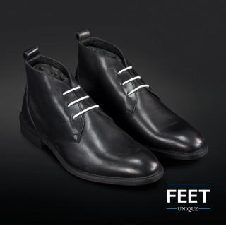 """Hvide """"No-Tie"""" snørebånd til pæne sko"""