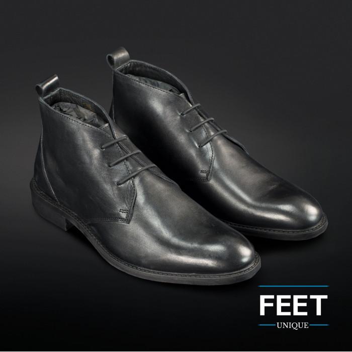 "Sorte ""No-Tie"" snørebånd til pæne sko"
