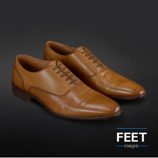 "Mørkebrune ""No-Tie"" snørebånd til pæne sko"