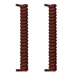 Mørkebrune spiral snørebånd