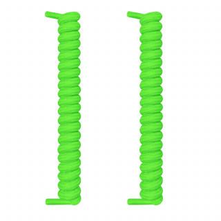 Neongrønne spiral snørebånd