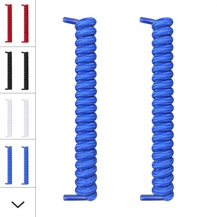 blå spiral snørebånd