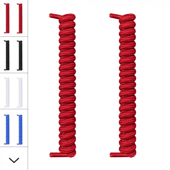 Røde spiral snørebånd