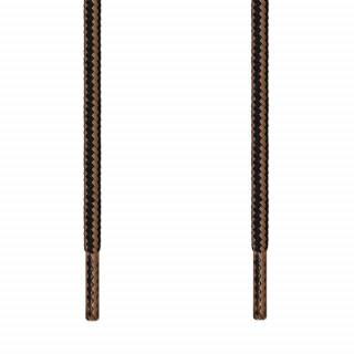 Runde sort & lysebrune snørebånd