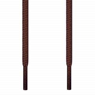 Runde mørkebrune snørebånd