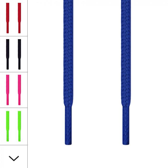 Runde blå snørebånd