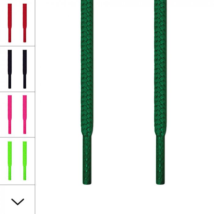 Runde grønne snørebånd