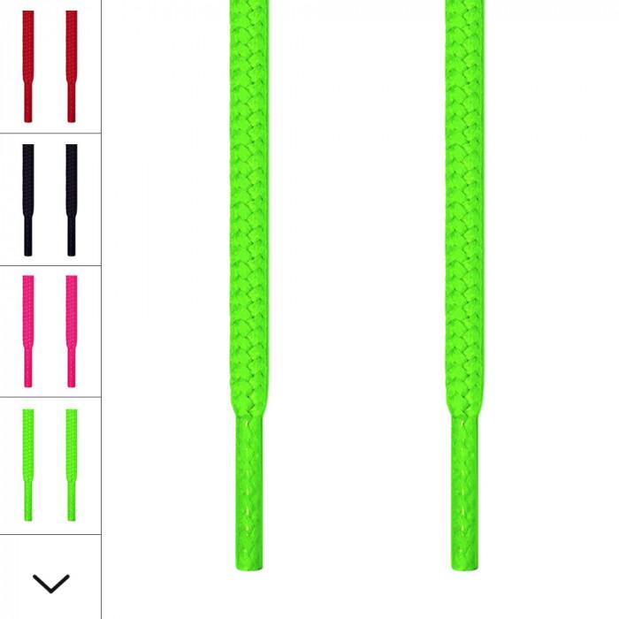 Runde neon grønne snørebånd