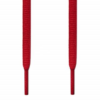 Ovale røde snørebånd