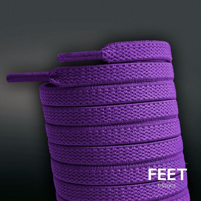 Flade, elastiske snørebånd i lilla (no tie)