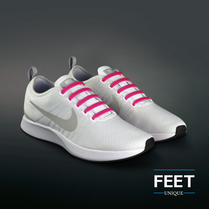Hot Pink Elastiske Silikone Snørebånd (No-Tie)