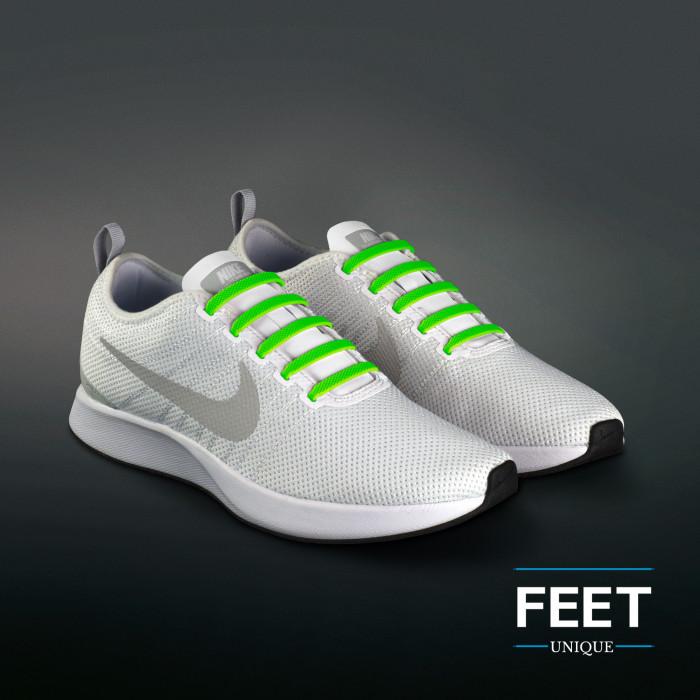 Neon Grønne Elastiske Silikone Snørebånd (No-Tie)
