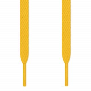 Flade gule snørebånd