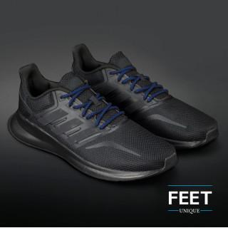 Adidas Yeezy - snørebånd sort og blå