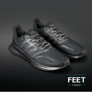 Adidas Yeezy - Snørebånd sort og sølv