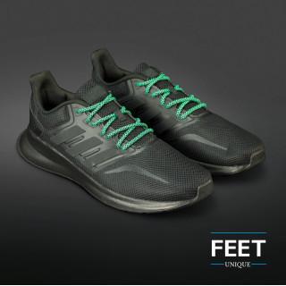 Adidas Yeezy - Snørebånd sort og grøn