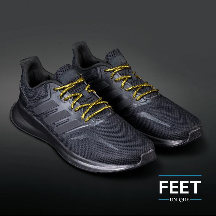 Adidas Yeezy - snørebånd sort og guld