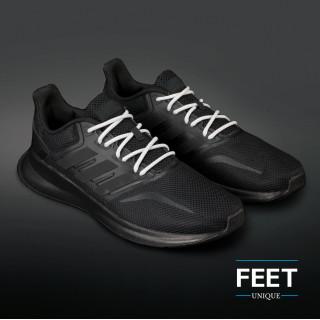 Adidas Yeezy - Snørebånd lys grå og hvid