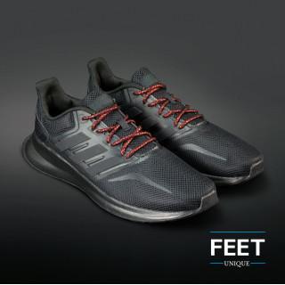Adidas Yeezy - Snørebånd sort og metallic rød