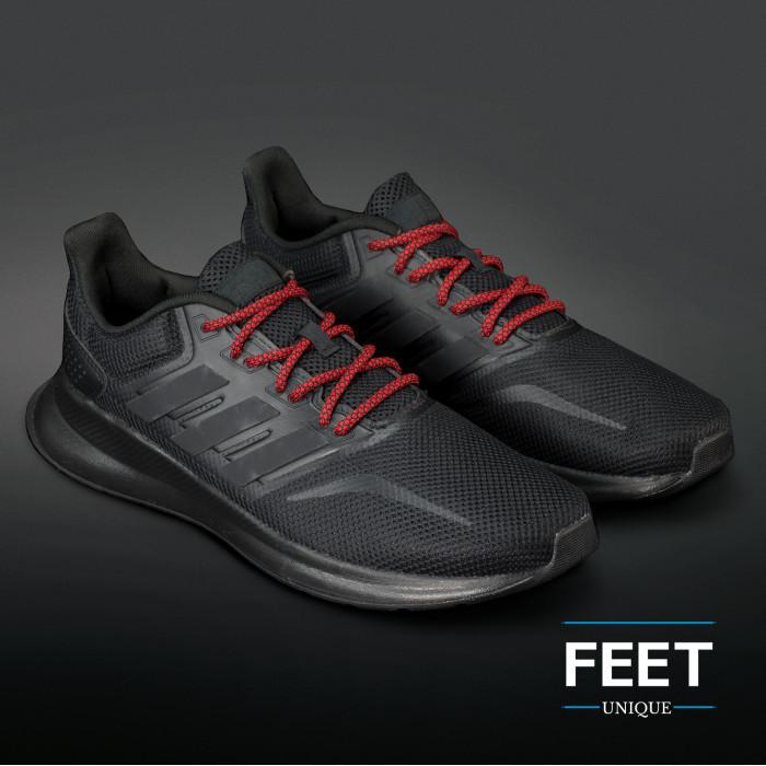 Adidas Yeezy - Snørebånd sort og rød