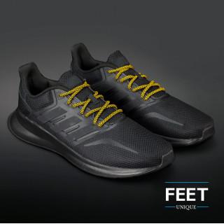 Adidas Yeezy - Snørebånd sort og gul